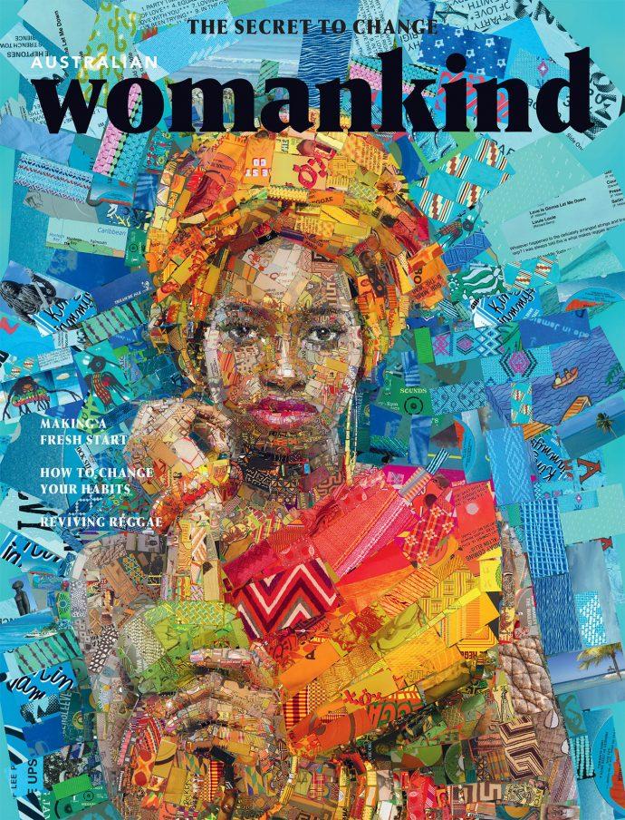 دختر آفریقایی ساخته شده از آجر