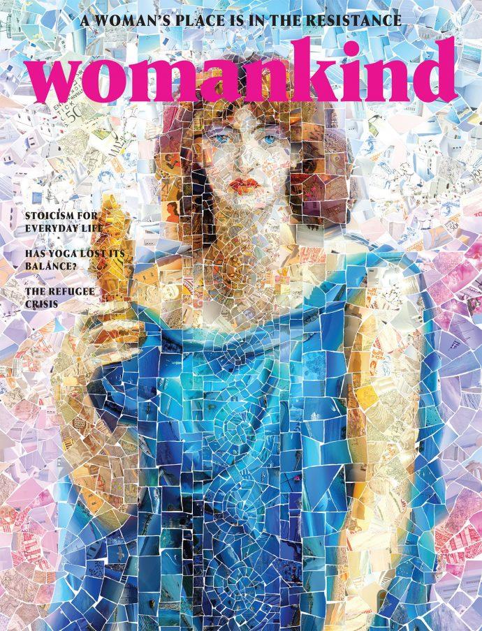 Persephone - الهه جهان زیرزمینی با الهام از الگوی کاشی شکسته